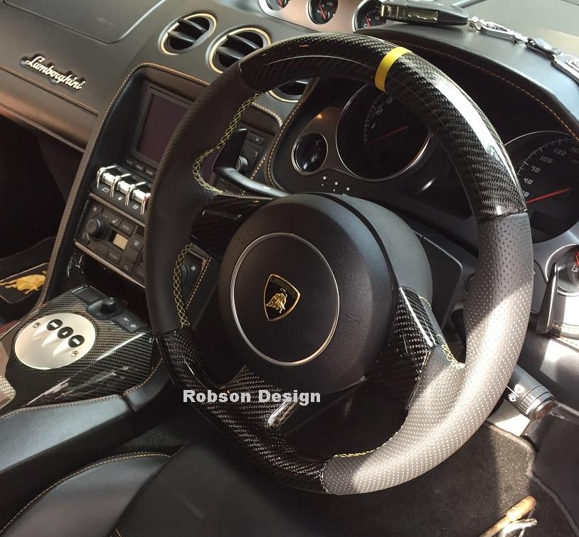 Lamborghini Gallardo Steering Wheel -Black Carbon Fiber ...