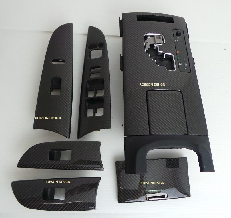 lexus is250 interior panels 7pcs set carbon fiber robson design carbon fiber car accessories