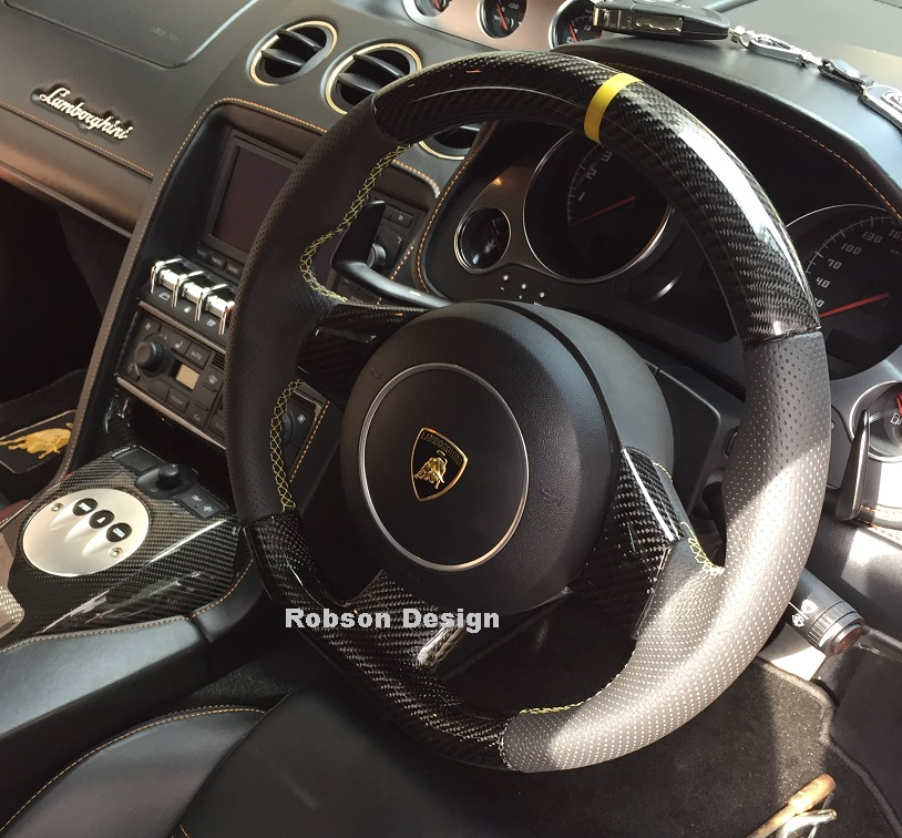 Lamborghini Gallardo Steering Wheel  Black Carbon Fiber
