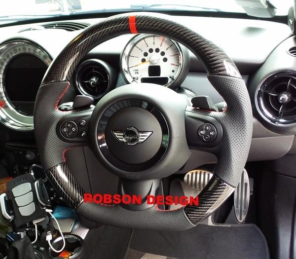 Mini Cooper Steering Wheel Carbon Fiber