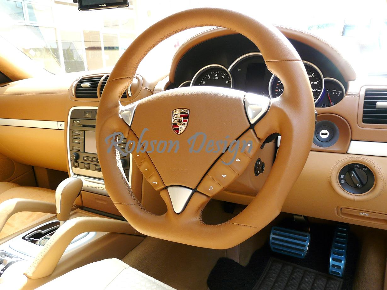 porsche cayenne gst steering wheel modified robson design carbon fiber car accessories interior. Black Bedroom Furniture Sets. Home Design Ideas