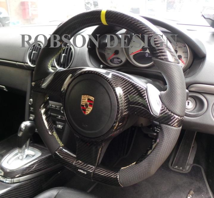 Porsche Boxter Steering Wheel Without Cover Carbon Fiber