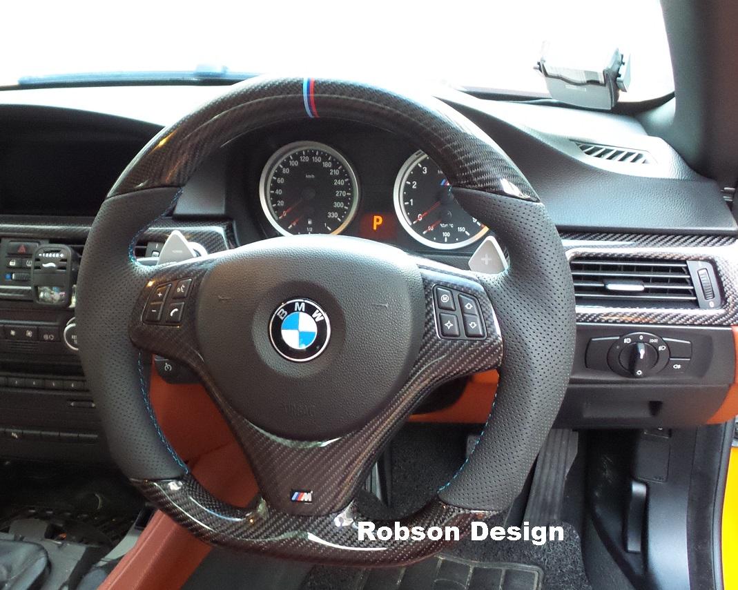 Bmw E90 E91 E92 E93 Carbon Fiber Steering Wheel Smg