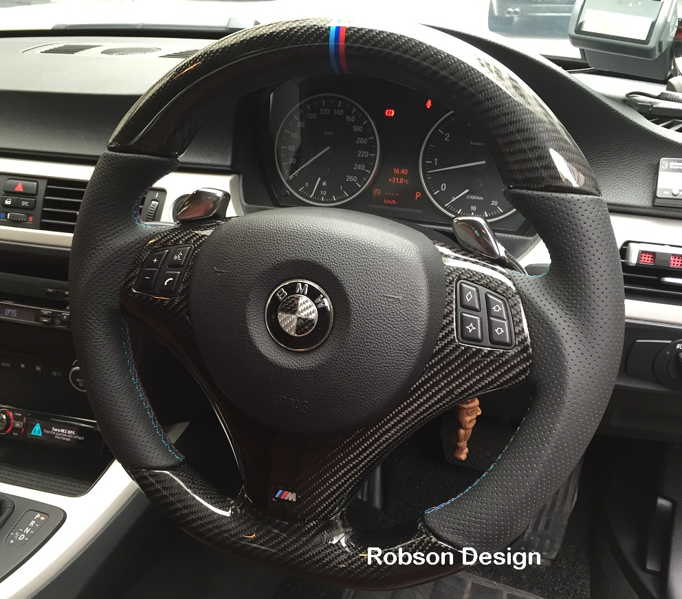 Bmw M3 Interior: BMW E90 E91 E92 E93 CARBON FIBER STEERING WHEEL SMG