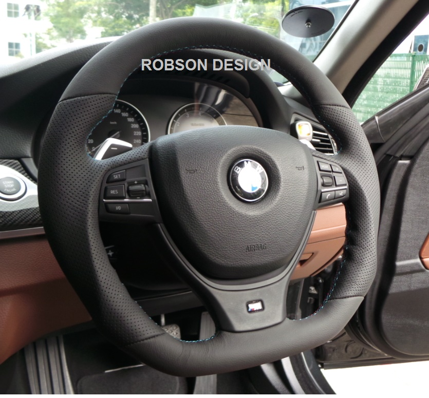 Bmw M5 Steering Wheel Full Leather Robson Design Carbon