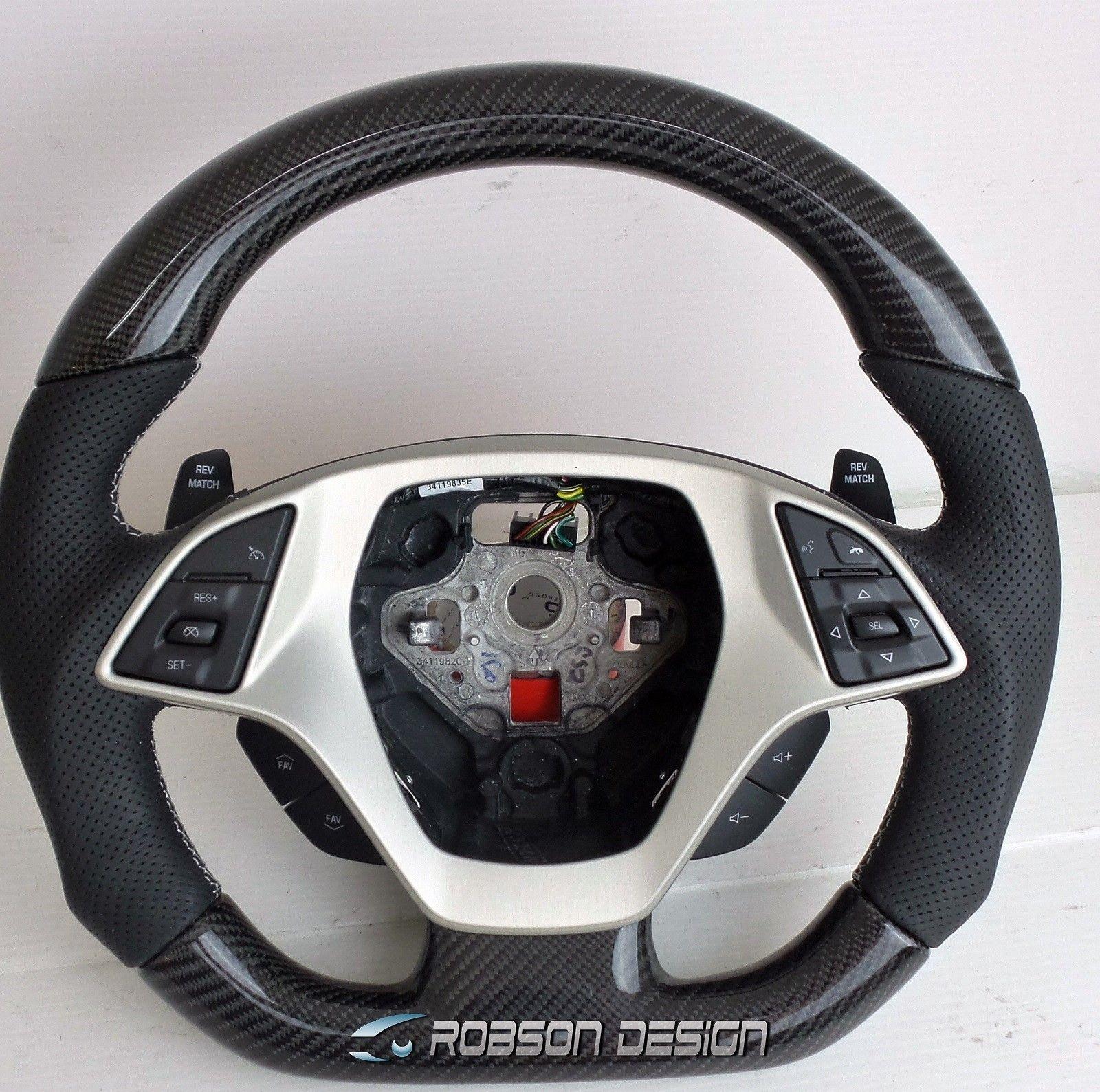 Chevrolet Corvette C7 Carbon Fiber Steering Wheel Robson