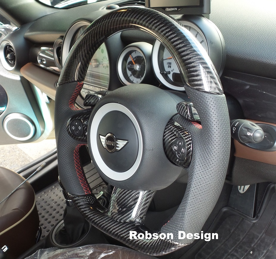 Mini Cooper Steering Wheel Carbon Fiber 2