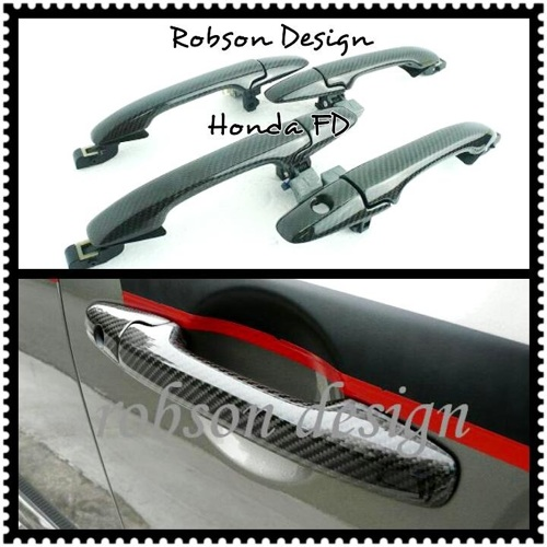 HONDA FD DOOR HANDLE 4PCS/SET CARBON FIBER – Robson Design Carbon ...
