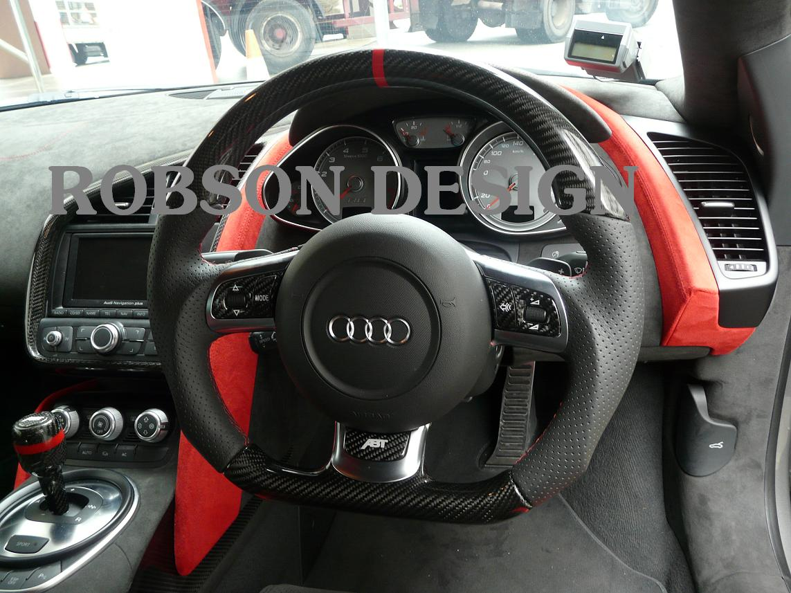 Audi R8 Steering Wheelexcluded Y Cover Robson Design Carbon