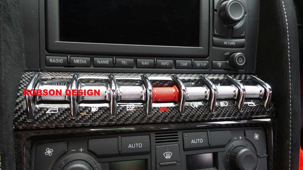 Lamborghini Gallardo Central Rocker Switch Panel Carbon Fiber
