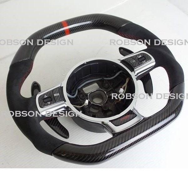 Audi R8 Steering Wheelpaddle Shifter With Carbon Fibersuede