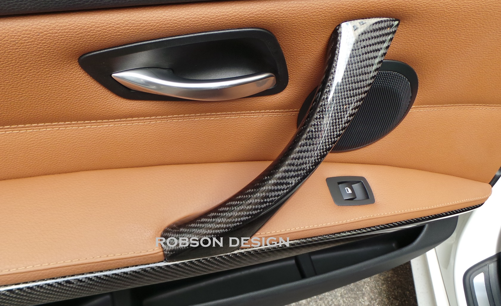 bmw e92 carbon fiber door handle robson design carbon fiber car accessories interior. Black Bedroom Furniture Sets. Home Design Ideas