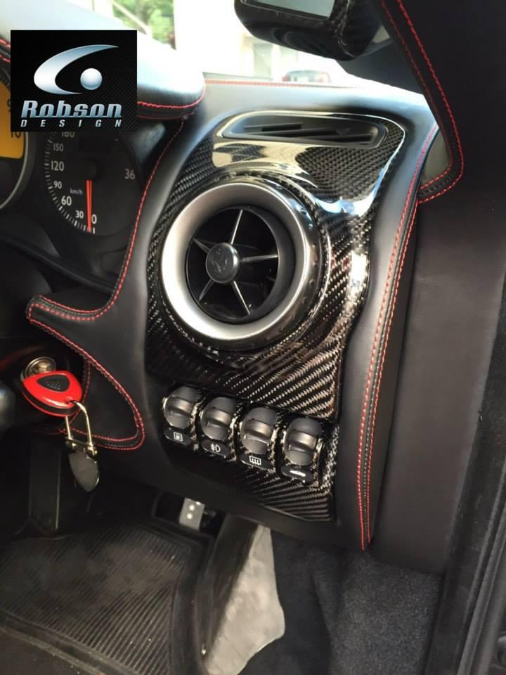 ferrari 430 carbon fiber interior set robson design carbon fiber car accessories interior. Black Bedroom Furniture Sets. Home Design Ideas
