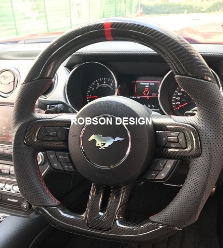 Ford Mustang Steering Wheel Carbon Fiber Robson Design Carbon Fiber Car Accessories Interior