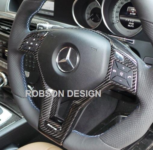Mercedes Steering Wheel Trim Cover 12 16 C Class Carbon Fiber Robson Design Carbon Fiber Car